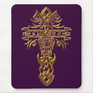 Christian Ornate Cross 48 Mouse Pad