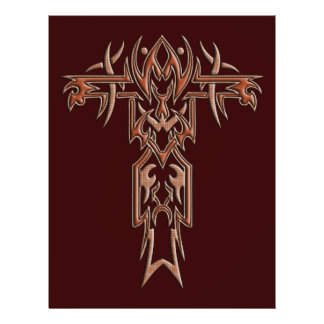 Christian Ornate Cross 4 21.5 Cm X 28 Cm Flyer