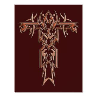 Christian Ornate Cross 4 21.5 Cm X 28 Cm Flyer