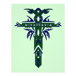 Christian Ornate Cross 61 Personalized Flyer