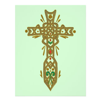 Christian Ornate Cross 62 21.5 Cm X 28 Cm Flyer