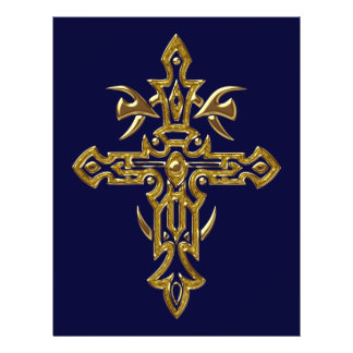 Christian Ornate Cross 77 Personalized Flyer