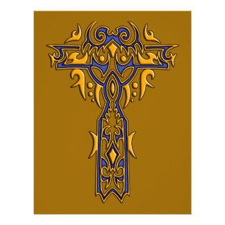 Christian Ornate Cross 8 21.5 Cm X 28 Cm Flyer