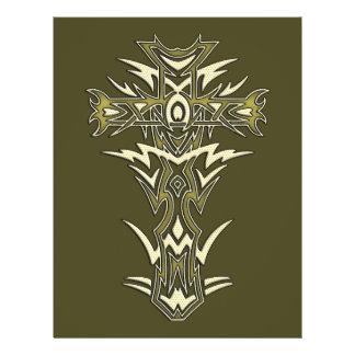 Christian Ornate Cross 21.5 Cm X 28 Cm Flyer