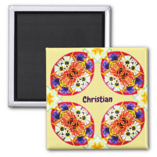 CHRISTIAN ~ Personalized Easter Pattern Fractal ~ Magnet