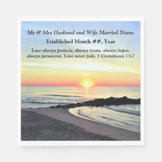 CHRISTIAN PERSONALIZED WEDDING NAPKINS DISPOSABLE NAPKINS