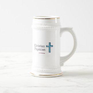 Christian Physician Cross Beer Stein