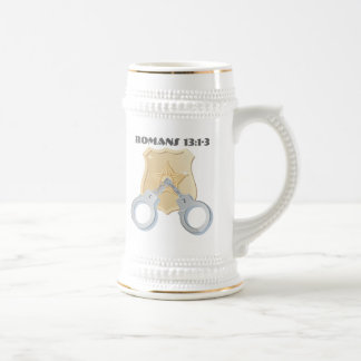 Christian Police Beer Stein