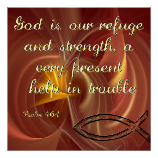Christian Poster with Bible Verse from Psalms
