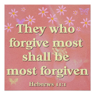 Christian Poster with Bible Verse Hebrews 11:1Chri