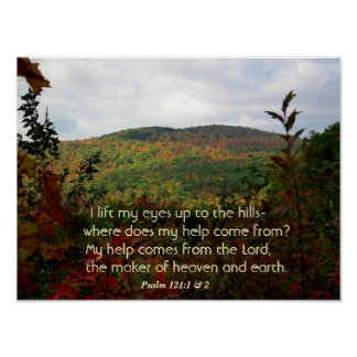 Christian Poster With Fall Foliage in the Hills