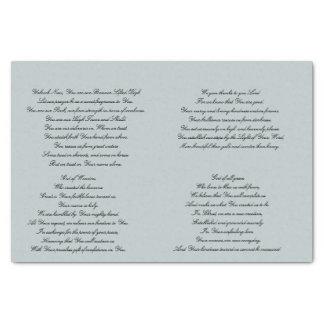 Christian Prayer Decoupage Tissue Paper