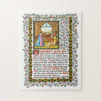 Christian Prayer With Nativity Jigsaw Puzzle
