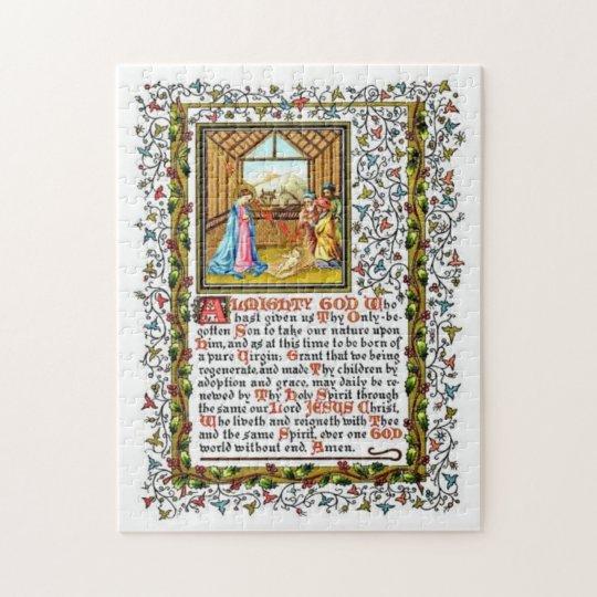 Christian Prayer With Nativity Jigsaw Puzzle
