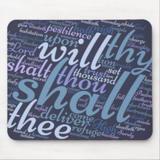 Christian PSALM 91 Mouse Pad