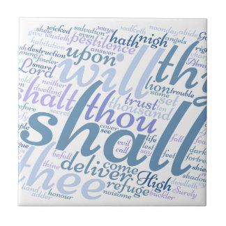 Christian PSALM 91 Tile
