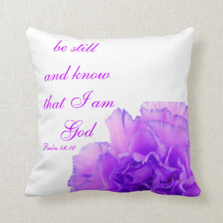 Christian Psalm Pillow, Psalm 46:10 Cushion