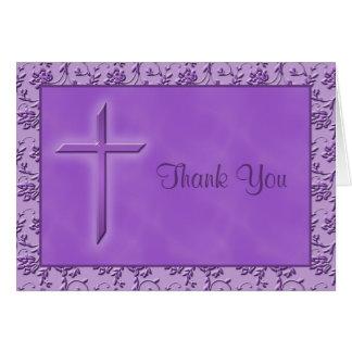 Christian Purple Thank You Card