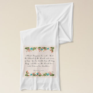 Christian Quote Art - Deuteronomy 33:12 Scarf
