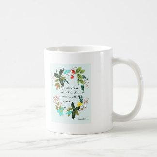 Christian Quote Art - Jeremiah 29:13 Basic White Mug