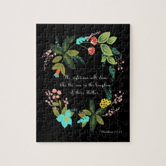 Christian Quote Art - Matthew 13:43 Jigsaw Puzzle