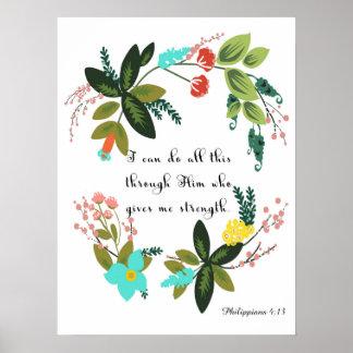 Christian Quote Art - Philippians 4:13 Poster