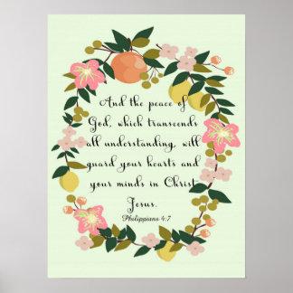 Christian Quote Art - Philippians 4:7 Print