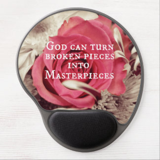 Christian Quote God Can Turn Broken Pieces Gel Mouse Pad