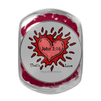 Christian Quotes Inspirational Glass Candy Jar