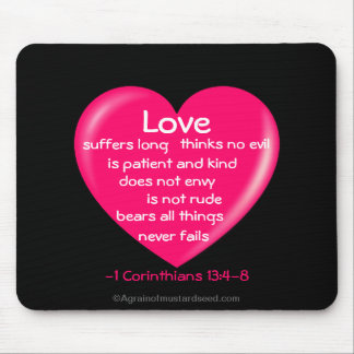 Christian Quotes Inspirational Mouse Pad
