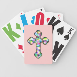 Christian Rainbow Cross Bicycle Playing Cards