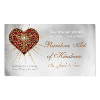 CHRISTIAN Random Acts of Kindness wallet cards Pack Of Standard Business Cards