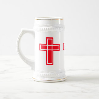 Christian red and white cross stein