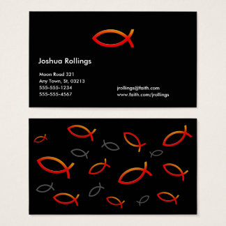 Christian Red Fish Business Card