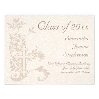 Christian Religious Graduation Announcement Cream
