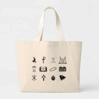 Christian religious signs and symbols bag