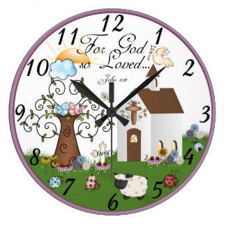 Christian religious wall clock
