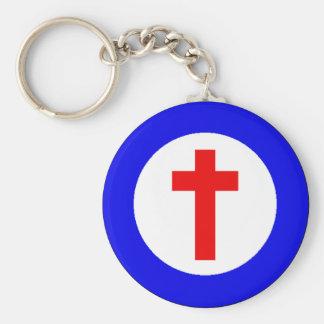 Christian Roundel Basic Round Button Key Ring