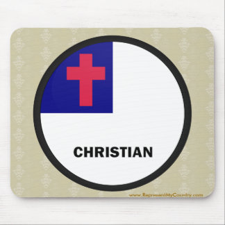 Christian Roundel quality Flag Mousepad