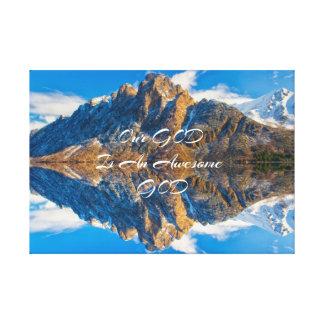 Christian saying, beautiful nature print