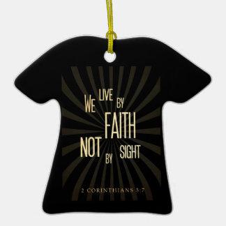 Christian Scriptural Bible 2 Corinthians 5:7 Ornament