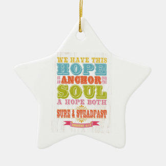 Christian Scriptural Bible Verse - Hebrew 6:19 Christmas Ornament