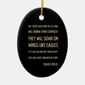 Christian Scriptural Bible Verse - Isaiah 40:31 Ceramic Oval Decoration