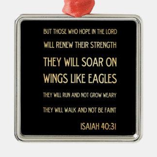 Christian Scriptural Bible Verse - Isaiah 40:31 Christmas Ornament