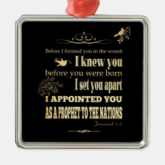 Christian Scriptural Bible Verse - Jeremiah 1:5 Christmas Tree Ornament