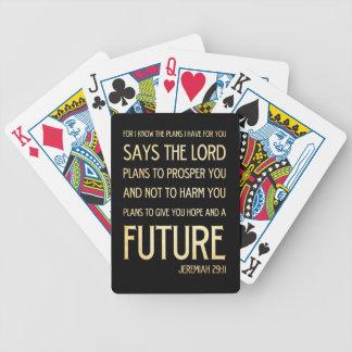 Christian Scriptural Bible Verse - Jeremiah 29:11 Poker Deck