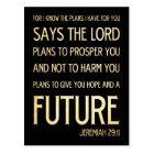 Christian Scriptural Bible Verse - Jeremiah 29:11 Postcard
