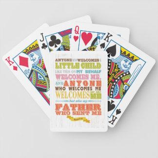 Christian Scriptural Bible Verse - Mark 9:37 Poker Deck