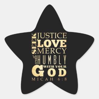 Christian Scriptural Bible Verse - Micah 6:8 Sticker