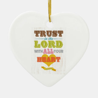 Christian Scriptural Bible Verse - Proverbs 3:5 Ornaments